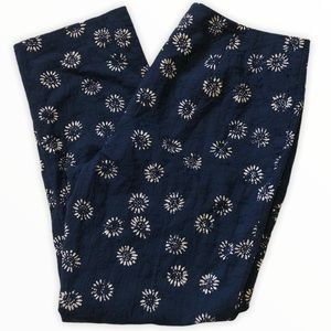 Sigrid Olsen Blue Daisy High-rise Pants 12
